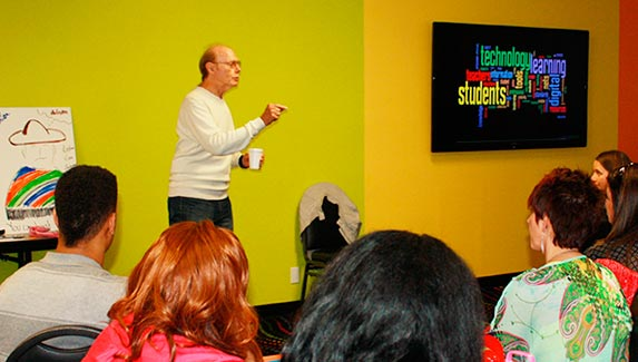 """Dr. Hewitt B. """"Rusty"""" Clark, the developer of the Transition to Independence Process (TIP) model, at a recent training event."""